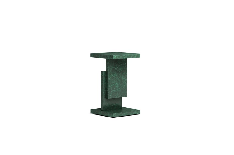 Gold/Copper Square Top Stack Side Table Geometric Customizable In New Condition For Sale In Beverly Hills, CA
