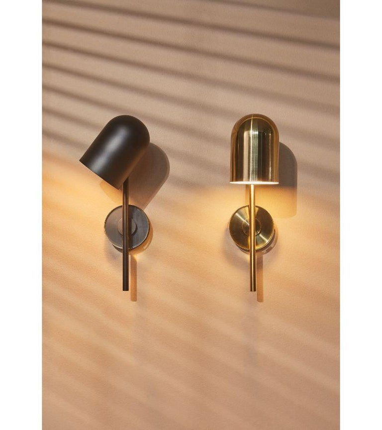 Contemporary Gold Cylinder Wall Lamp For Sale