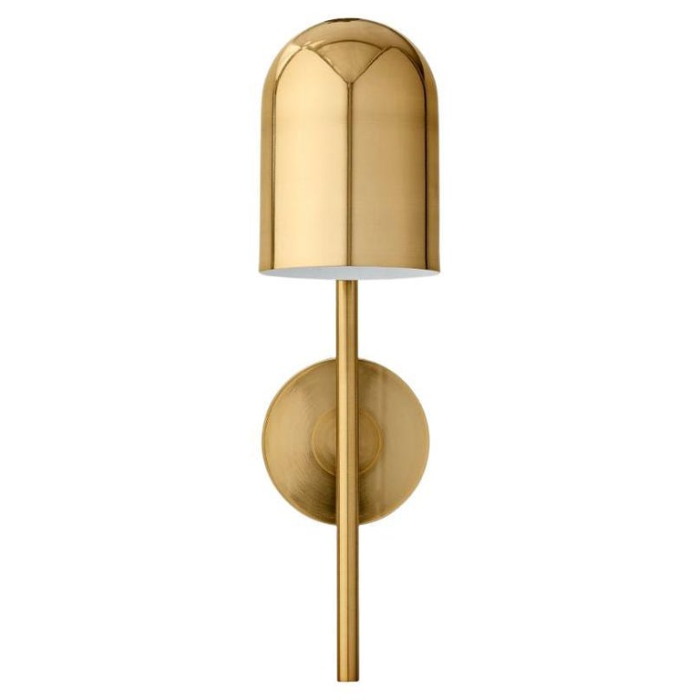 Gold Cylinder Wall Lamp For Sale