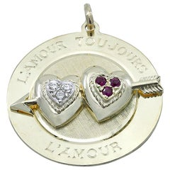 Gold Dankner Gemset Love Charm