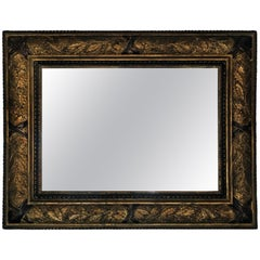 Gold Decorated Frame French Mirror from 1890s
