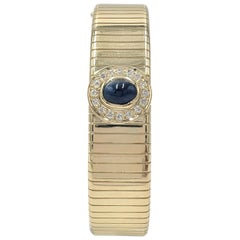 Gold Diamond and Sapphire Bangle, Signed Soler Cabot, Faberge