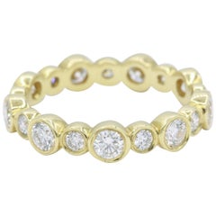 Gold Diamond 'Bubble' Band, 1.29 Carat