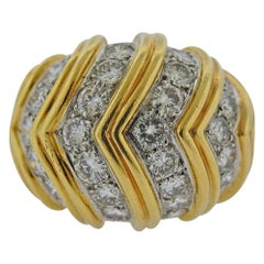 Gold Diamond Dome Ring