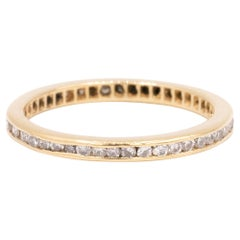 Gold Diamond Eternity Band