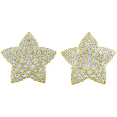 9bd78b3cc Chanel Comete Gold Diamond Star Earrings at 1stdibs