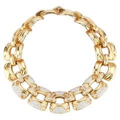 Gold & Diamond Link Necklace