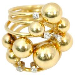 Gold Diamond Ring K di Kuore