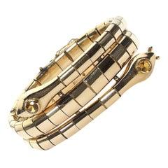 Gold Double Snake Bracelet Circa 1950