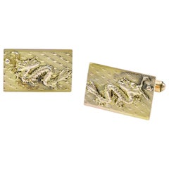 Gold Dragon Cufflinks
