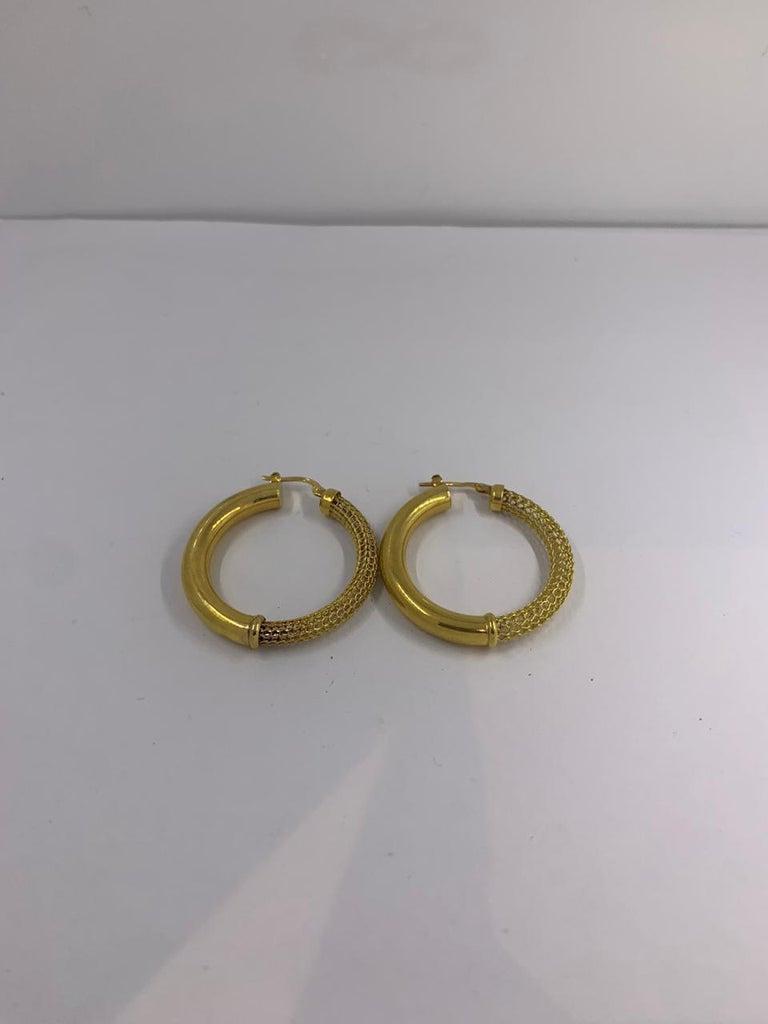 Gold Earrings 14 Karat In New Condition For Sale In Wilmington, DE