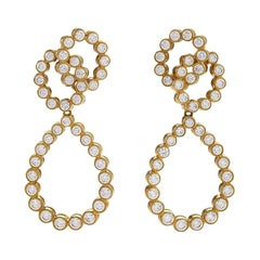 Gold Earrings with Diamonds by Verdura
