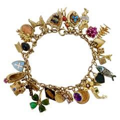 Gold Eclectic Charm Bracelet