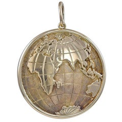 Gold Elliptical Globe Charm