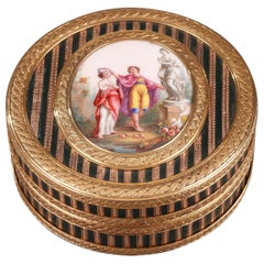Gold, Enamel, and Lacquer Box, Louis XV Period