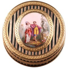 Gold, Enamel, Tortoiseshell and Lacquer Box, Louis XV Period
