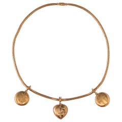 Gold faith Hope and Love or Charity Necklace