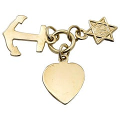 Gold FHC with Star of David Charm