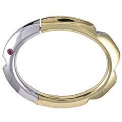 Gold Fish Bangle Bracelet