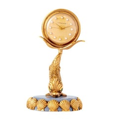 Gold Fish Desk Clock by Tiffany and Co