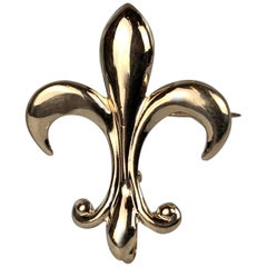 Fleur-de-Lis Watch Pin in 14k Yellow Gold