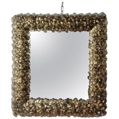 Gold Flower Delicious Murano Glass Mirror