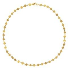 Ico & the Bird Gold Flower Sequin Necklace in 22 Karat Gold