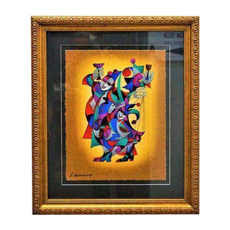 Gold Framed Anatole Krasnyansky Serigraph