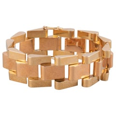 Gold French Tank Bracelet