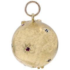 Gold Gemset Globe for Eight Photos