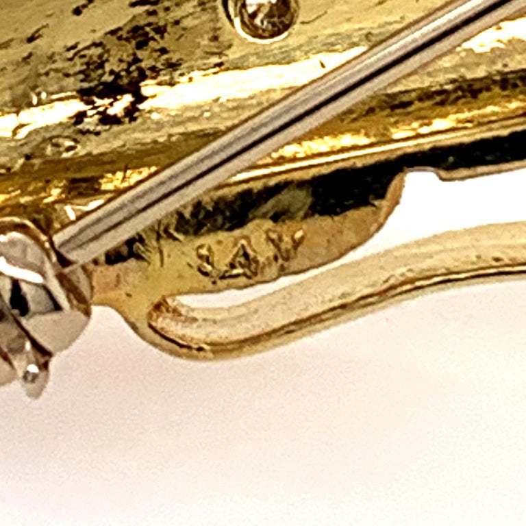 Gold Gemset Golf Club Bag Pin For Sale 1