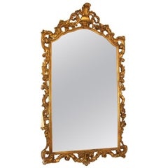 Gold Gilt Carved Wood Palatial Mirror