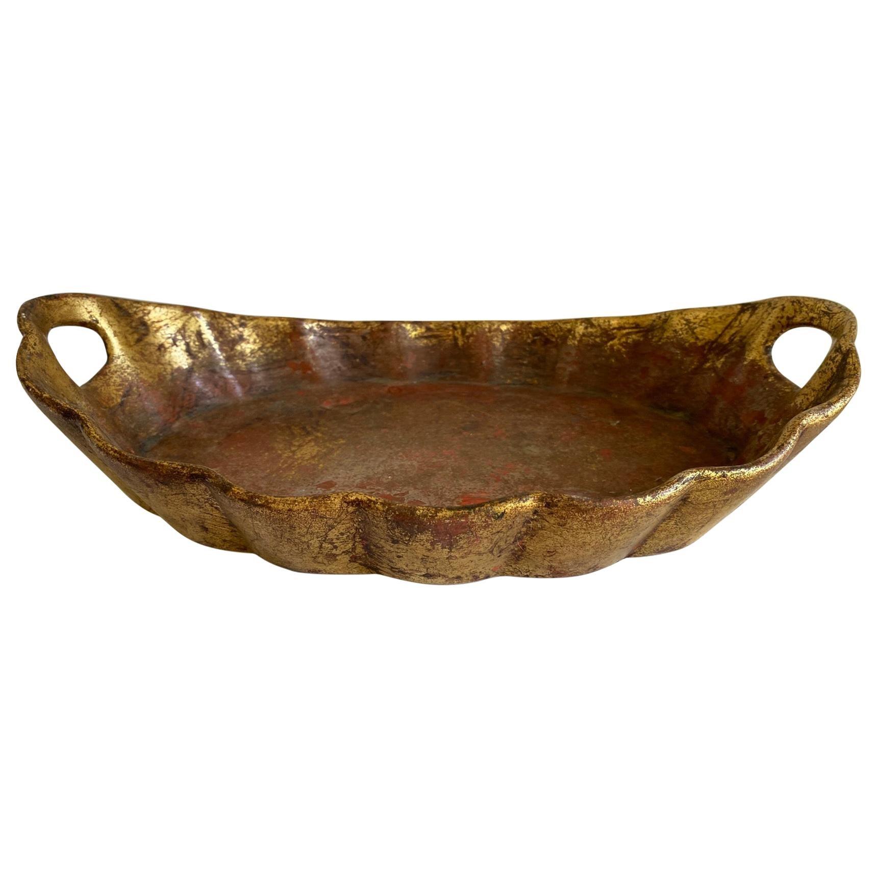 Gold Gilt Ceramic Platter