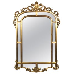 Gold Gilt French Style Mirror in Original Condition, circa 1890s