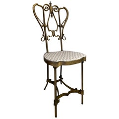 Gold Gilt Iron Vanity Chair