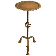 Gold Gilt Metal Cocktail Table, Spain, Midcentury