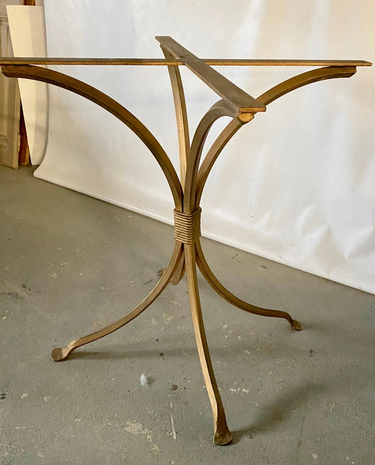 Modern Gold Gilt Metal Garden Table Base For Sale