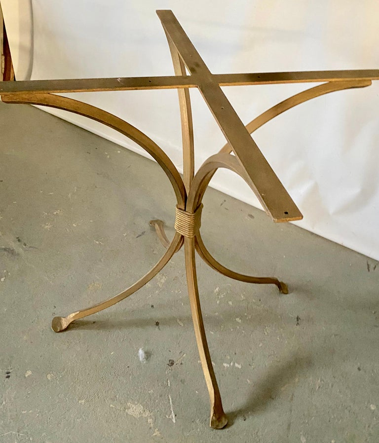 Gold Gilt Metal Garden Table Base In Good Condition For Sale In Great Barrington, MA