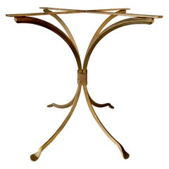 Gold Gilt Metal Garden Table Base