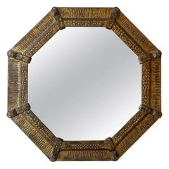 Gold Gilt Metal Octagonal Shape Frame, Spain, 1950s