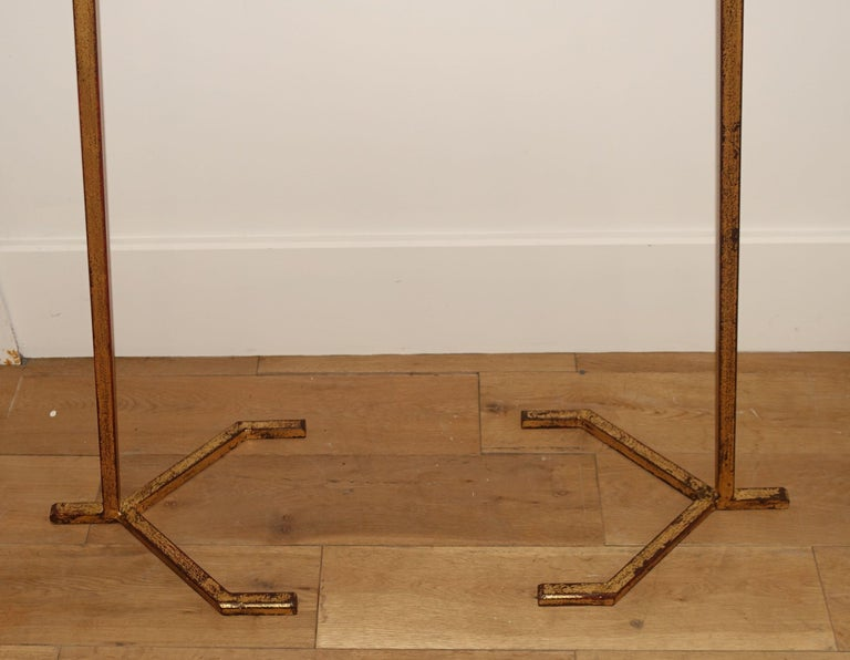 Gold Gilt Pair Standing Torchères, France, 1940s In Good Condition For Sale In New York, NY