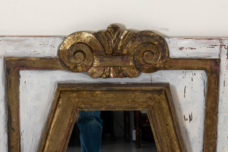 Gold Gilt Rectangular Mirror by Bob Christian In Good Condition For Sale In Stamford, CT