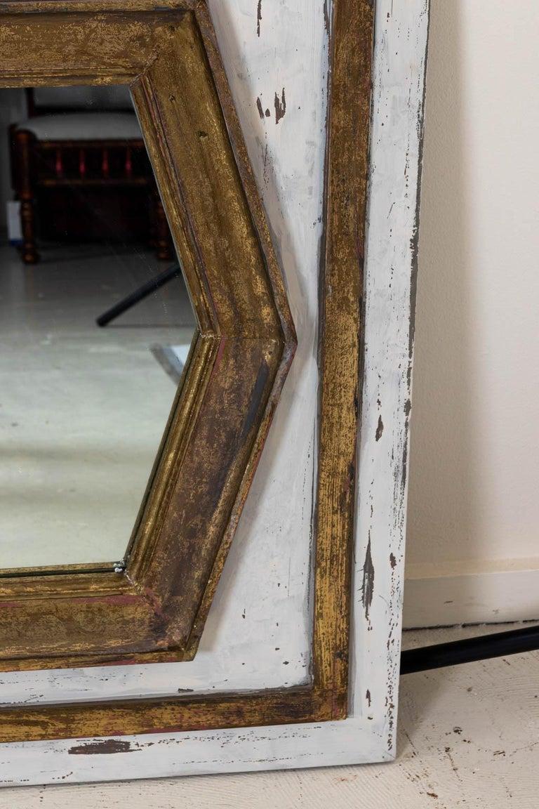 Gold Gilt Rectangular Mirror by Bob Christian For Sale 2
