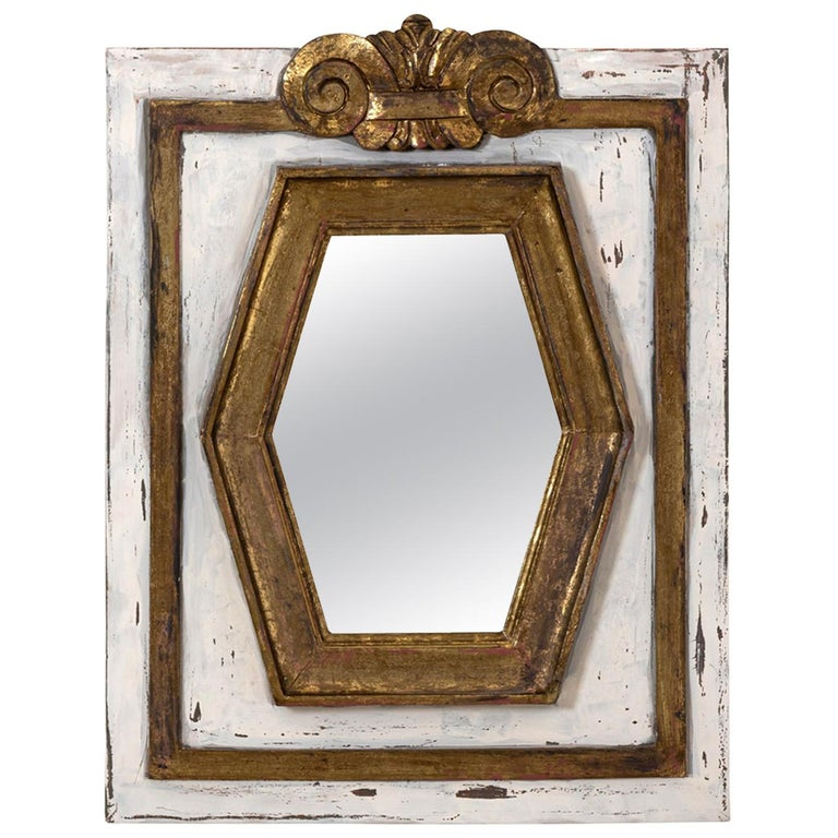 Gold Gilt Rectangular Mirror by Bob Christian For Sale