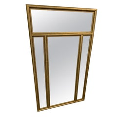 Gold Giltwood Faux Bamboo Mirror