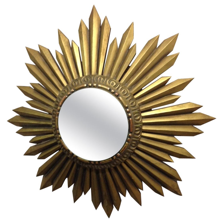 Gold Giltwood Framed Sunburst Mirror