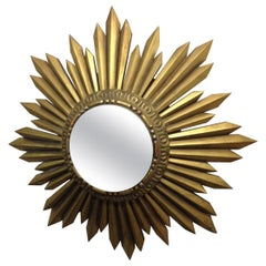 Gold Giltwood Framed Sunburst Mirror