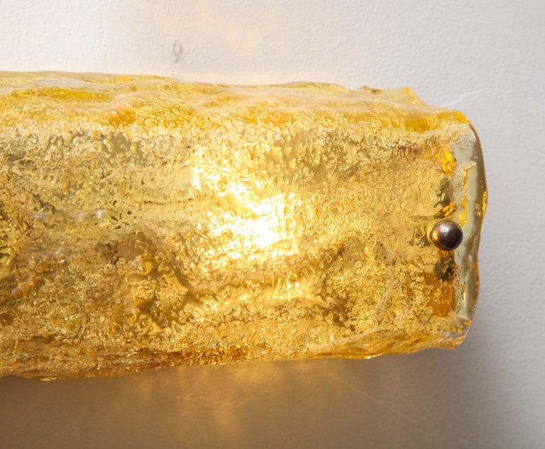 Gold Glass Wall Light For Sale 5