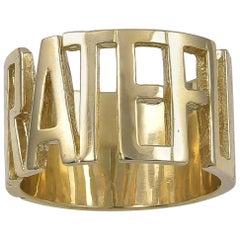 Gold Grateful Ring