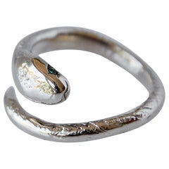 Emerald Gold Snake Ring Adjustable J Dauphin